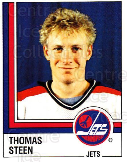 1987-88 Panini Stickers #365 Thomas Steen<br/>68 In Stock - $2.00 each - <a href=https://centericecollectibles.foxycart.com/cart?name=1987-88%20Panini%20Stickers%20%23365%20Thomas%20Steen...&quantity_max=68&price=$2.00&code=476745 class=foxycart> Buy it now! </a>