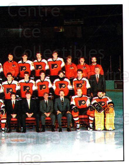 1987-88 Panini Stickers #392 Philadelphia Flyers, Team Photo<br/>33 In Stock - $2.00 each - <a href=https://centericecollectibles.foxycart.com/cart?name=1987-88%20Panini%20Stickers%20%23392%20Philadelphia%20Fl...&price=$2.00&code=476772 class=foxycart> Buy it now! </a>