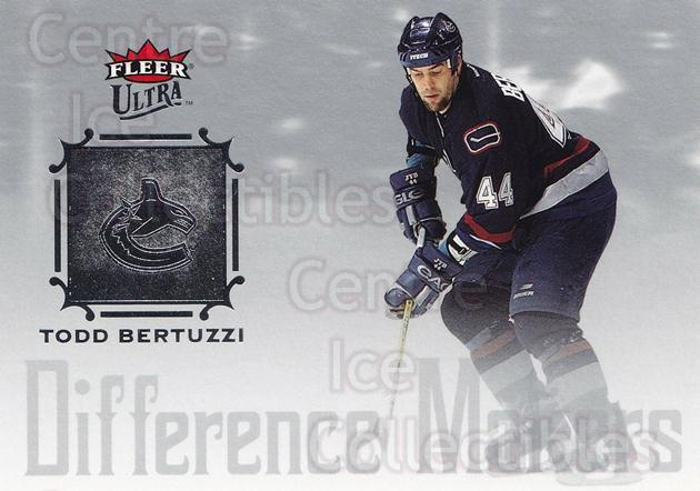 2005-06 Ultra Difference Makers #4 Todd Bertuzzi<br/>6 In Stock - $2.00 each - <a href=https://centericecollectibles.foxycart.com/cart?name=2005-06%20Ultra%20Difference%20Makers%20%234%20Todd%20Bertuzzi...&quantity_max=6&price=$2.00&code=476780 class=foxycart> Buy it now! </a>