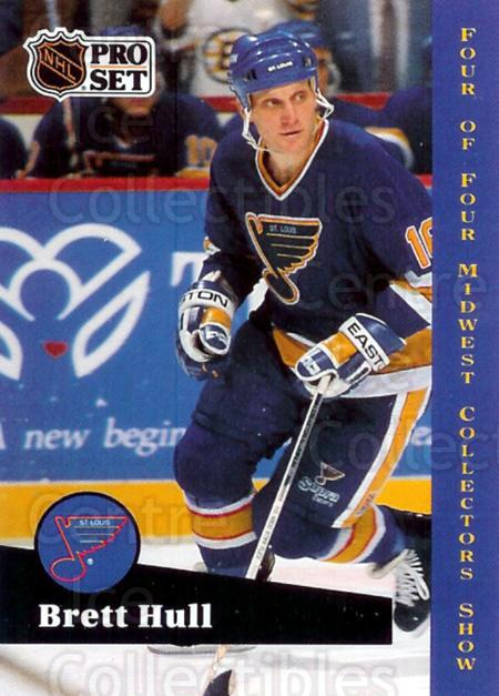 1991-92 Pro Set St. Louis Midwest #4 Brett Hull<br/>6 In Stock - $3.00 each - <a href=https://centericecollectibles.foxycart.com/cart?name=1991-92%20Pro%20Set%20St.%20Louis%20Midwest%20%234%20Brett%20Hull...&price=$3.00&code=476817 class=foxycart> Buy it now! </a>