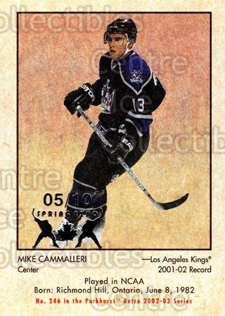 2002-03 Parkhurst Retro Spring Expo #246 Mike Cammalleri<br/>4 In Stock - $5.00 each - <a href=https://centericecollectibles.foxycart.com/cart?name=2002-03%20Parkhurst%20Retro%20Spring%20Expo%20%23246%20Mike%20Cammalleri...&quantity_max=4&price=$5.00&code=476879 class=foxycart> Buy it now! </a>