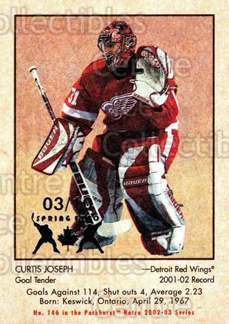 2002-03 Parkhurst Retro Spring Expo #146 Curtis Joseph<br/>1 In Stock - $5.00 each - <a href=https://centericecollectibles.foxycart.com/cart?name=2002-03%20Parkhurst%20Retro%20Spring%20Expo%20%23146%20Curtis%20Joseph...&quantity_max=1&price=$5.00&code=476995 class=foxycart> Buy it now! </a>