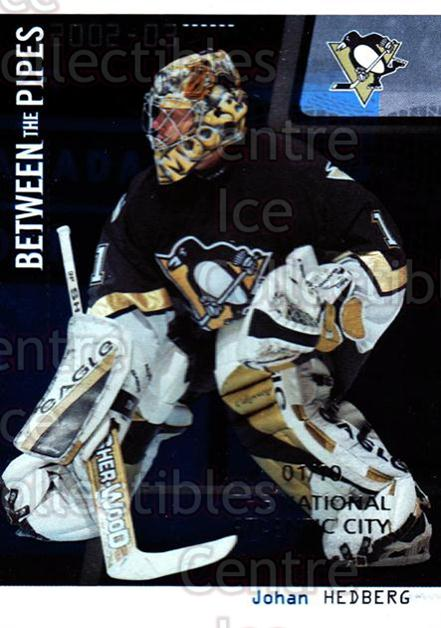 2002-03 Between the Pipes National Atlantic City #40 Johan Hedberg<br/>2 In Stock - $5.00 each - <a href=https://centericecollectibles.foxycart.com/cart?name=2002-03%20Between%20the%20Pipes%20National%20Atlantic%20City%20%2340%20Johan%20Hedberg...&quantity_max=2&price=$5.00&code=477179 class=foxycart> Buy it now! </a>