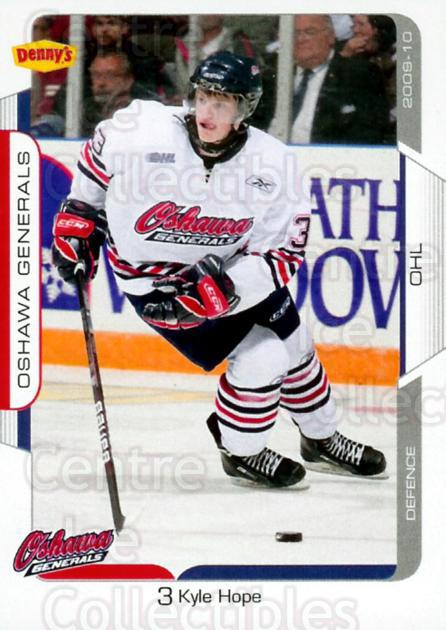 2009-10 Oshawa Generals #2 Kyle Hope<br/>3 In Stock - $3.00 each - <a href=https://centericecollectibles.foxycart.com/cart?name=2009-10%20Oshawa%20Generals%20%232%20Kyle%20Hope...&quantity_max=3&price=$3.00&code=477259 class=foxycart> Buy it now! </a>