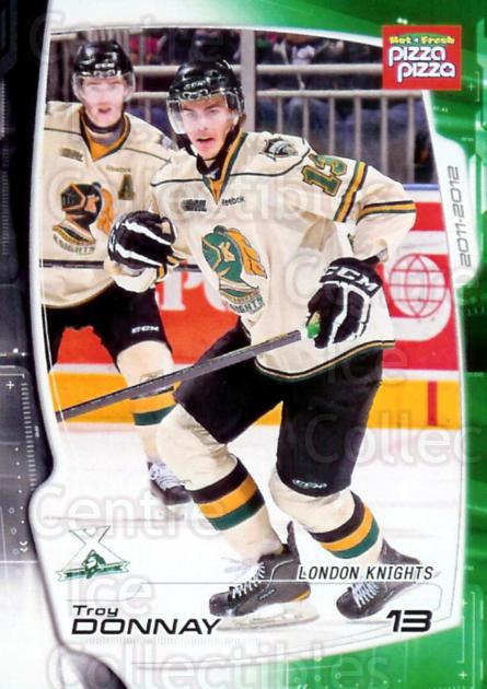 2011-12 London Knights #3 Troy Donnay<br/>2 In Stock - $3.00 each - <a href=https://centericecollectibles.foxycart.com/cart?name=2011-12%20London%20Knights%20%233%20Troy%20Donnay...&quantity_max=2&price=$3.00&code=477417 class=foxycart> Buy it now! </a>