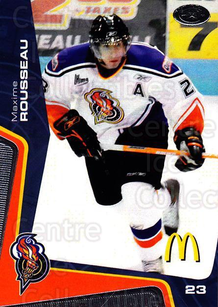 2005-06 Olympiques De Gatineau #6 Maxime Rousseau<br/>6 In Stock - $3.00 each - <a href=https://centericecollectibles.foxycart.com/cart?name=2005-06%20Olympiques%20De%20Gatineau%20%236%20Maxime%20Rousseau...&quantity_max=6&price=$3.00&code=477491 class=foxycart> Buy it now! </a>