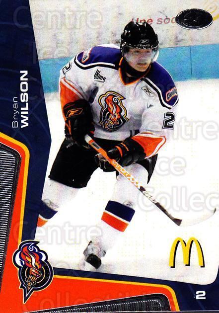 2005-06 Olympiques De Gatineau #9 Bryan Wilson<br/>4 In Stock - $3.00 each - <a href=https://centericecollectibles.foxycart.com/cart?name=2005-06%20Olympiques%20De%20Gatineau%20%239%20Bryan%20Wilson...&quantity_max=4&price=$3.00&code=477494 class=foxycart> Buy it now! </a>