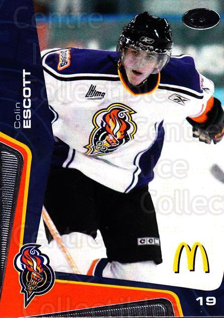 2005-06 Olympiques De Gatineau #15 Colin Escott<br/>6 In Stock - $3.00 each - <a href=https://centericecollectibles.foxycart.com/cart?name=2005-06%20Olympiques%20De%20Gatineau%20%2315%20Colin%20Escott...&quantity_max=6&price=$3.00&code=477500 class=foxycart> Buy it now! </a>