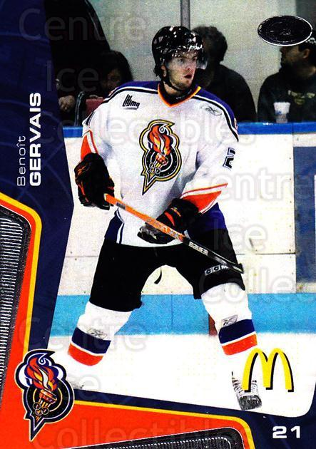 2005-06 Olympiques De Gatineau #16 Benoit Gervais<br/>6 In Stock - $3.00 each - <a href=https://centericecollectibles.foxycart.com/cart?name=2005-06%20Olympiques%20De%20Gatineau%20%2316%20Benoit%20Gervais...&quantity_max=6&price=$3.00&code=477501 class=foxycart> Buy it now! </a>