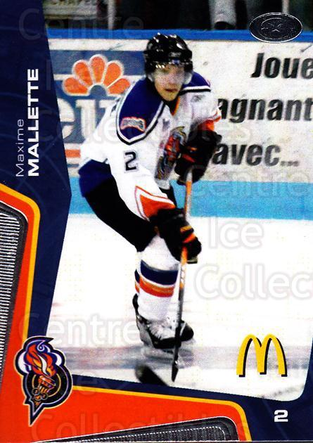 2005-06 Olympiques De Gatineau #17 Maxime Malette<br/>6 In Stock - $3.00 each - <a href=https://centericecollectibles.foxycart.com/cart?name=2005-06%20Olympiques%20De%20Gatineau%20%2317%20Maxime%20Malette...&quantity_max=6&price=$3.00&code=477502 class=foxycart> Buy it now! </a>