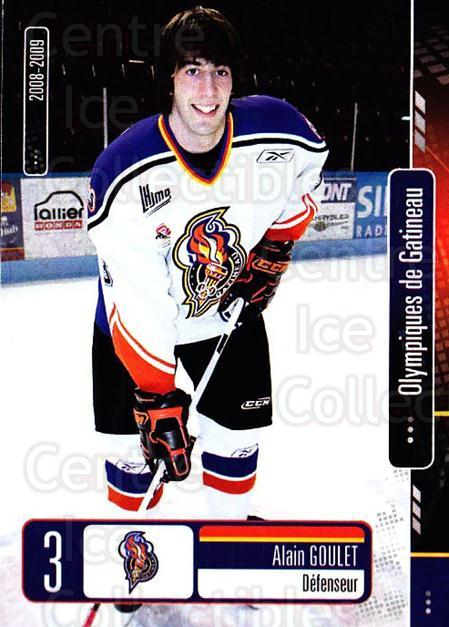 2008-09 Olympiques De Gatineau #2 Alain Goulet<br/>1 In Stock - $3.00 each - <a href=https://centericecollectibles.foxycart.com/cart?name=2008-09%20Olympiques%20De%20Gatineau%20%232%20Alain%20Goulet...&quantity_max=1&price=$3.00&code=477542 class=foxycart> Buy it now! </a>