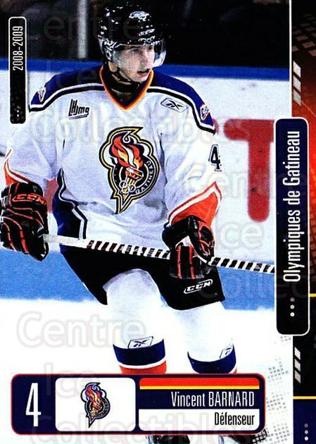 2008-09 Olympiques De Gatineau #3 Vincent Barnard<br/>4 In Stock - $3.00 each - <a href=https://centericecollectibles.foxycart.com/cart?name=2008-09%20Olympiques%20De%20Gatineau%20%233%20Vincent%20Barnard...&quantity_max=4&price=$3.00&code=477543 class=foxycart> Buy it now! </a>