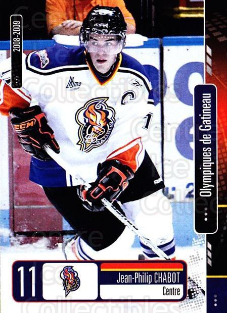 2008-09 Olympiques De Gatineau #9 Jean-Philip Chabot<br/>4 In Stock - $3.00 each - <a href=https://centericecollectibles.foxycart.com/cart?name=2008-09%20Olympiques%20De%20Gatineau%20%239%20Jean-Philip%20Cha...&quantity_max=4&price=$3.00&code=477549 class=foxycart> Buy it now! </a>