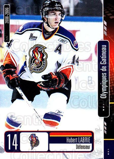 2008-09 Olympiques De Gatineau #11 Hubert Labrie<br/>4 In Stock - $3.00 each - <a href=https://centericecollectibles.foxycart.com/cart?name=2008-09%20Olympiques%20De%20Gatineau%20%2311%20Hubert%20Labrie...&quantity_max=4&price=$3.00&code=477551 class=foxycart> Buy it now! </a>