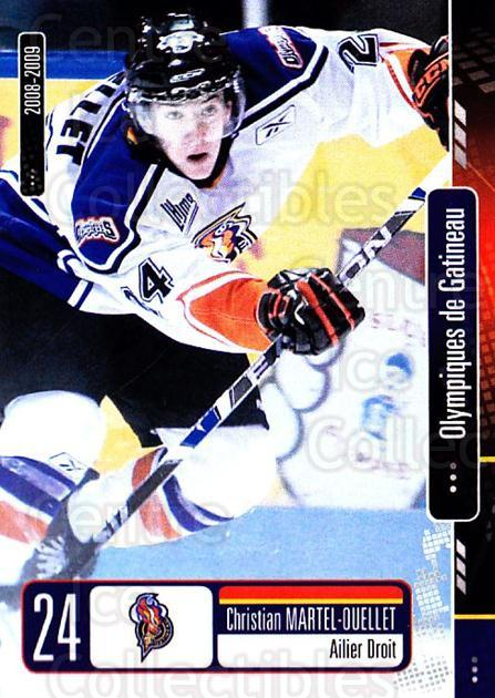 2008-09 Olympiques De Gatineau #19 Christian Martel-Ouellet<br/>3 In Stock - $3.00 each - <a href=https://centericecollectibles.foxycart.com/cart?name=2008-09%20Olympiques%20De%20Gatineau%20%2319%20Christian%20Marte...&quantity_max=3&price=$3.00&code=477559 class=foxycart> Buy it now! </a>