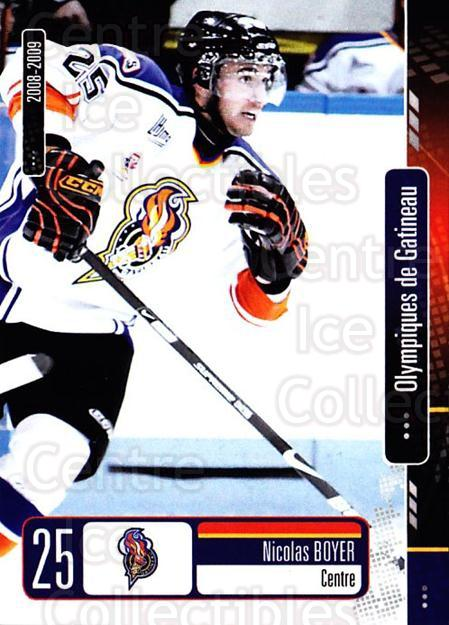 2008-09 Olympiques De Gatineau #24 Nicolas Boyer<br/>4 In Stock - $3.00 each - <a href=https://centericecollectibles.foxycart.com/cart?name=2008-09%20Olympiques%20De%20Gatineau%20%2324%20Nicolas%20Boyer...&quantity_max=4&price=$3.00&code=477564 class=foxycart> Buy it now! </a>