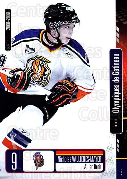 2008-09 Olympiques De Gatineau #25 Nicholas Vallieres-Mayer<br/>4 In Stock - $3.00 each - <a href=https://centericecollectibles.foxycart.com/cart?name=2008-09%20Olympiques%20De%20Gatineau%20%2325%20Nicholas%20Vallie...&quantity_max=4&price=$3.00&code=477565 class=foxycart> Buy it now! </a>