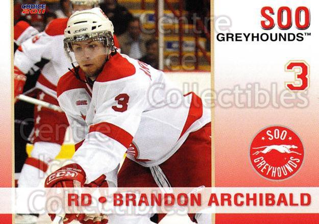 2010-11 Sault Ste. Marie Greyhounds #1 Brandon Archibald<br/>4 In Stock - $3.00 each - <a href=https://centericecollectibles.foxycart.com/cart?name=2010-11%20Sault%20Ste.%20Marie%20Greyhounds%20%231%20Brandon%20Archiba...&quantity_max=4&price=$3.00&code=477566 class=foxycart> Buy it now! </a>