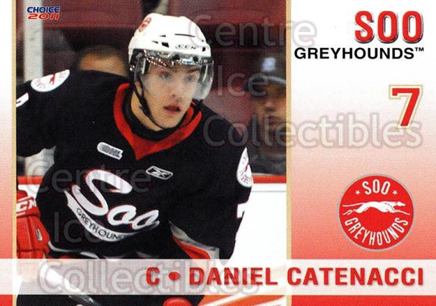 2010-11 Sault Ste. Marie Greyhounds #4 Daniel Catenacci<br/>2 In Stock - $3.00 each - <a href=https://centericecollectibles.foxycart.com/cart?name=2010-11%20Sault%20Ste.%20Marie%20Greyhounds%20%234%20Daniel%20Catenacc...&quantity_max=2&price=$3.00&code=477569 class=foxycart> Buy it now! </a>