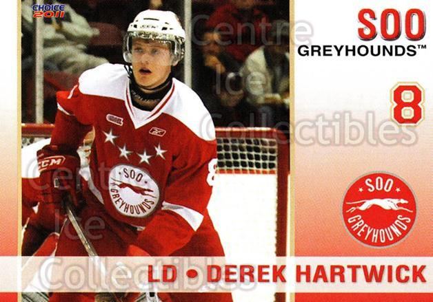 2010-11 Sault Ste. Marie Greyhounds #5 Derek Hartwick<br/>2 In Stock - $3.00 each - <a href=https://centericecollectibles.foxycart.com/cart?name=2010-11%20Sault%20Ste.%20Marie%20Greyhounds%20%235%20Derek%20Hartwick...&quantity_max=2&price=$3.00&code=477570 class=foxycart> Buy it now! </a>