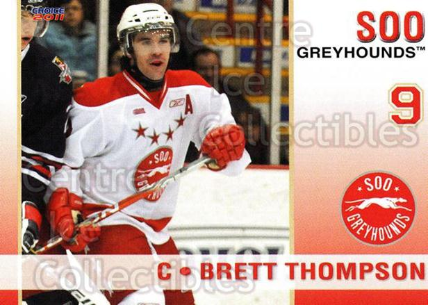 2010-11 Sault Ste. Marie Greyhounds #6 Brett Thompson<br/>4 In Stock - $3.00 each - <a href=https://centericecollectibles.foxycart.com/cart?name=2010-11%20Sault%20Ste.%20Marie%20Greyhounds%20%236%20Brett%20Thompson...&quantity_max=4&price=$3.00&code=477571 class=foxycart> Buy it now! </a>