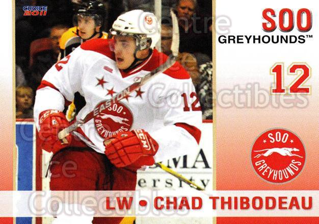 2010-11 Sault Ste. Marie Greyhounds #8 Chad Thibodeau<br/>4 In Stock - $3.00 each - <a href=https://centericecollectibles.foxycart.com/cart?name=2010-11%20Sault%20Ste.%20Marie%20Greyhounds%20%238%20Chad%20Thibodeau...&quantity_max=4&price=$3.00&code=477573 class=foxycart> Buy it now! </a>