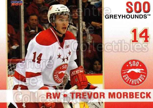2010-11 Sault Ste. Marie Greyhounds #9 Trevor Morbeck<br/>4 In Stock - $3.00 each - <a href=https://centericecollectibles.foxycart.com/cart?name=2010-11%20Sault%20Ste.%20Marie%20Greyhounds%20%239%20Trevor%20Morbeck...&quantity_max=4&price=$3.00&code=477574 class=foxycart> Buy it now! </a>