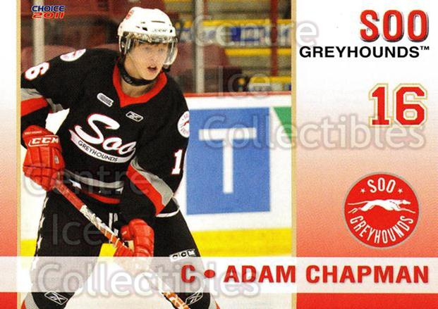 2010-11 Sault Ste. Marie Greyhounds #10 Adam Chapman<br/>4 In Stock - $3.00 each - <a href=https://centericecollectibles.foxycart.com/cart?name=2010-11%20Sault%20Ste.%20Marie%20Greyhounds%20%2310%20Adam%20Chapman...&quantity_max=4&price=$3.00&code=477575 class=foxycart> Buy it now! </a>