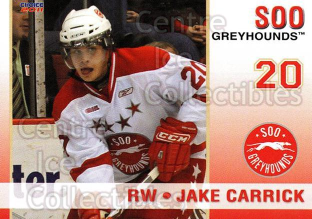 2010-11 Sault Ste. Marie Greyhounds #14 Jake Carrick<br/>3 In Stock - $3.00 each - <a href=https://centericecollectibles.foxycart.com/cart?name=2010-11%20Sault%20Ste.%20Marie%20Greyhounds%20%2314%20Jake%20Carrick...&quantity_max=3&price=$3.00&code=477579 class=foxycart> Buy it now! </a>