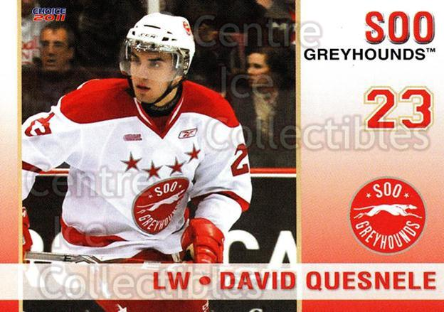 2010-11 Sault Ste. Marie Greyhounds #16 David Quesnele<br/>4 In Stock - $3.00 each - <a href=https://centericecollectibles.foxycart.com/cart?name=2010-11%20Sault%20Ste.%20Marie%20Greyhounds%20%2316%20David%20Quesnele...&quantity_max=4&price=$3.00&code=477581 class=foxycart> Buy it now! </a>