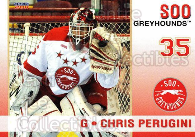 2010-11 Sault Ste. Marie Greyhounds #24 Chris Perugini<br/>2 In Stock - $3.00 each - <a href=https://centericecollectibles.foxycart.com/cart?name=2010-11%20Sault%20Ste.%20Marie%20Greyhounds%20%2324%20Chris%20Perugini...&quantity_max=2&price=$3.00&code=477589 class=foxycart> Buy it now! </a>