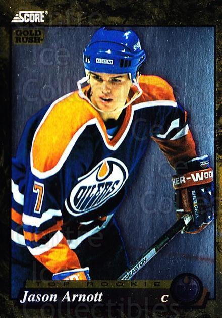 1993-94 Score Canadian Gold #594 Jason Arnott<br/>2 In Stock - $2.00 each - <a href=https://centericecollectibles.foxycart.com/cart?name=1993-94%20Score%20Canadian%20Gold%20%23594%20Jason%20Arnott...&price=$2.00&code=4775 class=foxycart> Buy it now! </a>