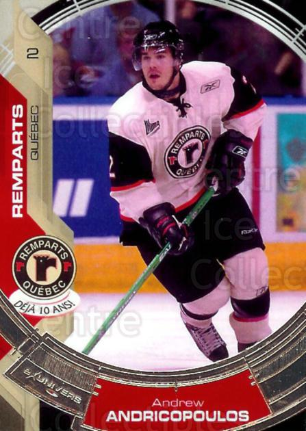 2006-07 Quebec Remparts #2 Andrew Andricopoulos<br/>3 In Stock - $3.00 each - <a href=https://centericecollectibles.foxycart.com/cart?name=2006-07%20Quebec%20Remparts%20%232%20Andrew%20Andricop...&price=$3.00&code=477642 class=foxycart> Buy it now! </a>