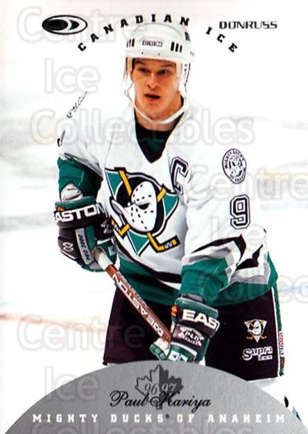 1996-97 Canadian Ice #3 Paul Kariya<br/>3 In Stock - $1.00 each - <a href=https://centericecollectibles.foxycart.com/cart?name=1996-97%20Canadian%20Ice%20%233%20Paul%20Kariya...&quantity_max=3&price=$1.00&code=47764 class=foxycart> Buy it now! </a>