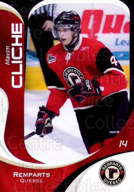 2007-08 Quebec Remparts #25 Maxim Cliche<br/>8 In Stock - $3.00 each - <a href=https://centericecollectibles.foxycart.com/cart?name=2007-08%20Quebec%20Remparts%20%2325%20Maxim%20Cliche...&price=$3.00&code=477667 class=foxycart> Buy it now! </a>