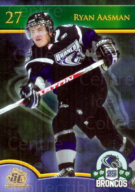 2010-11 Swift Current Broncos #1 Ryan Aasman<br/>3 In Stock - $3.00 each - <a href=https://centericecollectibles.foxycart.com/cart?name=2010-11%20Swift%20Current%20Broncos%20%231%20Ryan%20Aasman...&quantity_max=3&price=$3.00&code=477773 class=foxycart> Buy it now! </a>