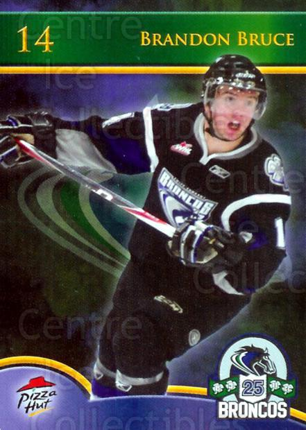2010-11 Swift Current Broncos #3 Brandon Bruce<br/>3 In Stock - $3.00 each - <a href=https://centericecollectibles.foxycart.com/cart?name=2010-11%20Swift%20Current%20Broncos%20%233%20Brandon%20Bruce...&quantity_max=3&price=$3.00&code=477775 class=foxycart> Buy it now! </a>