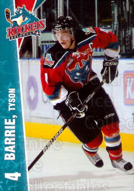 2010-11 Kelowna Rockets #3 Tyson Barrie<br/>4 In Stock - $3.00 each - <a href=https://centericecollectibles.foxycart.com/cart?name=2010-11%20Kelowna%20Rockets%20%233%20Tyson%20Barrie...&quantity_max=4&price=$3.00&code=477800 class=foxycart> Buy it now! </a>