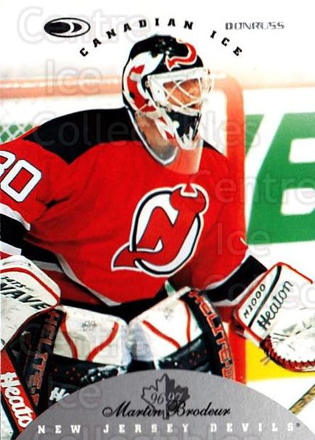 1996-97 Canadian Ice #46 Martin Brodeur<br/>4 In Stock - $2.00 each - <a href=https://centericecollectibles.foxycart.com/cart?name=1996-97%20Canadian%20Ice%20%2346%20Martin%20Brodeur...&price=$2.00&code=47782 class=foxycart> Buy it now! </a>