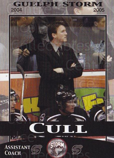 2004-05 Guelph Storm #6 Trent Cull<br/>1 In Stock - $3.00 each - <a href=https://centericecollectibles.foxycart.com/cart?name=2004-05%20Guelph%20Storm%20%236%20Trent%20Cull...&quantity_max=1&price=$3.00&code=477926 class=foxycart> Buy it now! </a>