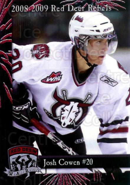 2008-09 Red Deer Rebels #3 Josh Cowen<br/>3 In Stock - $3.00 each - <a href=https://centericecollectibles.foxycart.com/cart?name=2008-09%20Red%20Deer%20Rebels%20%233%20Josh%20Cowen...&price=$3.00&code=477958 class=foxycart> Buy it now! </a>