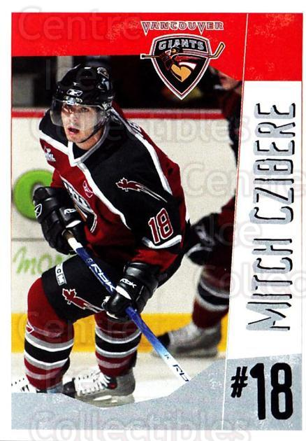 2005-06 Vancouver Giants #6 Mitch Czibere<br/>2 In Stock - $3.00 each - <a href=https://centericecollectibles.foxycart.com/cart?name=2005-06%20Vancouver%20Giants%20%236%20Mitch%20Czibere...&quantity_max=2&price=$3.00&code=477985 class=foxycart> Buy it now! </a>