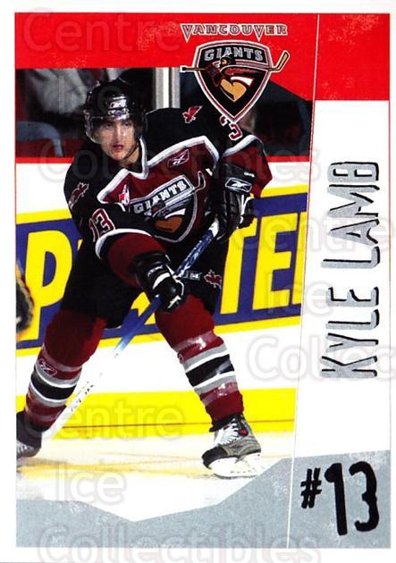 2005-06 Vancouver Giants #13 Kyle Lamb<br/>2 In Stock - $3.00 each - <a href=https://centericecollectibles.foxycart.com/cart?name=2005-06%20Vancouver%20Giants%20%2313%20Kyle%20Lamb...&quantity_max=2&price=$3.00&code=477992 class=foxycart> Buy it now! </a>