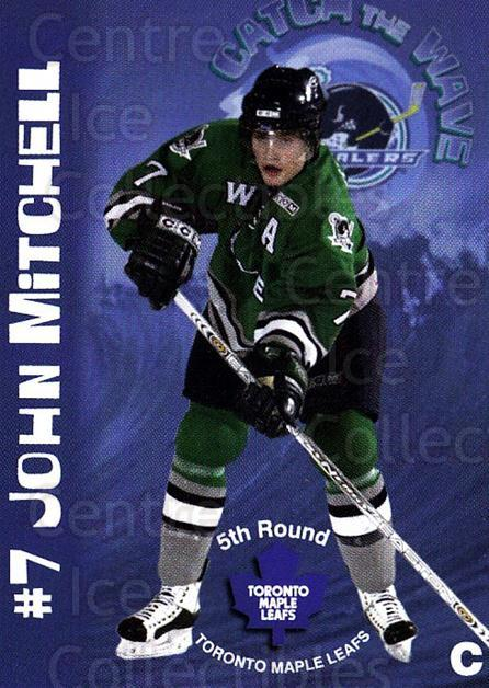 2004-05 Plymouth Whalers #15 John Mitchell<br/>5 In Stock - $3.00 each - <a href=https://centericecollectibles.foxycart.com/cart?name=2004-05%20Plymouth%20Whalers%20%2315%20John%20Mitchell...&quantity_max=5&price=$3.00&code=478046 class=foxycart> Buy it now! </a>