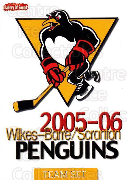 2005-06 Wilkes-Barre Scranton Penguins #30 Header Card, Checklist<br/>6 In Stock - $3.00 each - <a href=https://centericecollectibles.foxycart.com/cart?name=2005-06%20Wilkes-Barre%20Scranton%20Penguins%20%2330%20Header%20Card,%20Ch...&price=$3.00&code=478068 class=foxycart> Buy it now! </a>