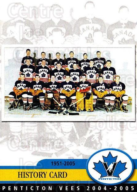 2004-05 Penticton Vees #25 Team Photo<br/>5 In Stock - $2.00 each - <a href=https://centericecollectibles.foxycart.com/cart?name=2004-05%20Penticton%20Vees%20%2325%20Team%20Photo...&price=$2.00&code=478069 class=foxycart> Buy it now! </a>