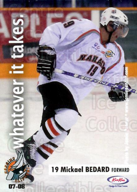 2007-08 Nanaimo Clippers #2 Mickael Bedard<br/>4 In Stock - $3.00 each - <a href=https://centericecollectibles.foxycart.com/cart?name=2007-08%20Nanaimo%20Clippers%20%232%20Mickael%20Bedard...&price=$3.00&code=478148 class=foxycart> Buy it now! </a>