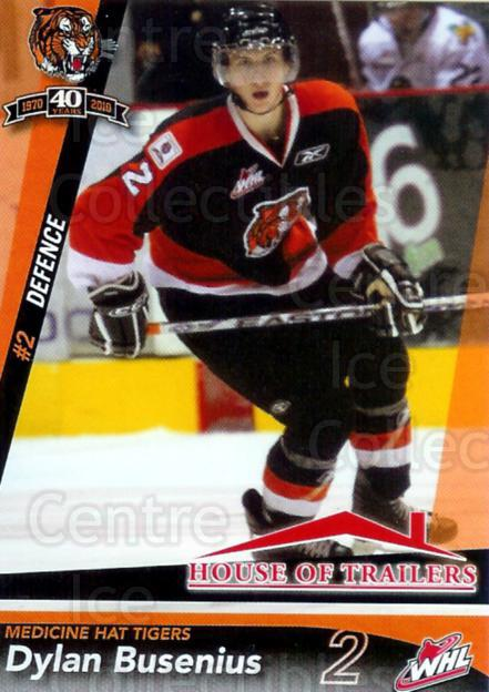2009-10 Medicine Hat Tigers #3 Dylan Busenius<br/>1 In Stock - $3.00 each - <a href=https://centericecollectibles.foxycart.com/cart?name=2009-10%20Medicine%20Hat%20Tigers%20%233%20Dylan%20Busenius...&quantity_max=1&price=$3.00&code=478416 class=foxycart> Buy it now! </a>