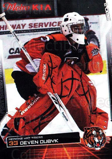 2010-11 Medicine Hat Tigers #7 Deven Dubyk<br/>4 In Stock - $5.00 each - <a href=https://centericecollectibles.foxycart.com/cart?name=2010-11%20Medicine%20Hat%20Tigers%20%237%20Deven%20Dubyk...&quantity_max=4&price=$5.00&code=478445 class=foxycart> Buy it now! </a>