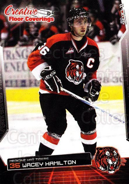2010-11 Medicine Hat Tigers #10 Wacey Hamilton<br/>4 In Stock - $3.00 each - <a href=https://centericecollectibles.foxycart.com/cart?name=2010-11%20Medicine%20Hat%20Tigers%20%2310%20Wacey%20Hamilton...&quantity_max=4&price=$3.00&code=478448 class=foxycart> Buy it now! </a>